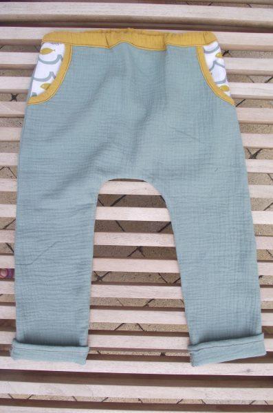 Pantalon enfant double gaze – 2 ans- petits poissons