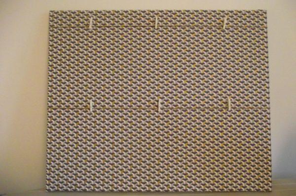 Tableau photos – cubique, touche dorée