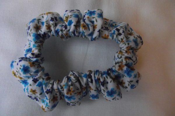 Chouchous – fleuri tons bleu et ocre 10€ les  4