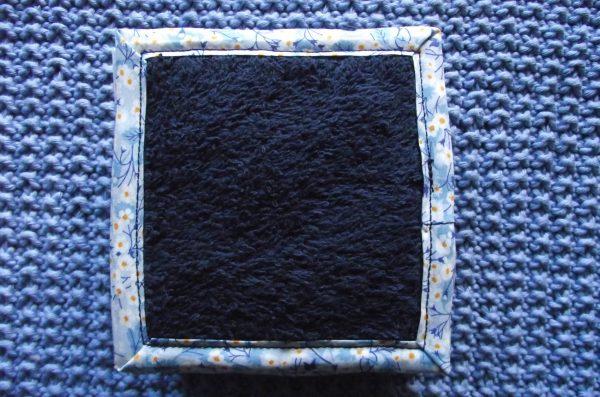 Lot de 10 lingettes – biais Liberty – bleu clair et marine